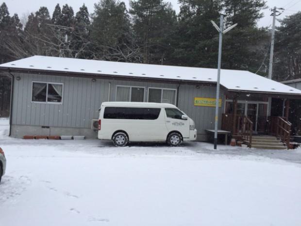大槌町の雪景色