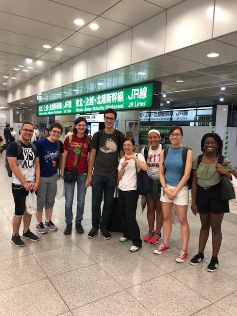 MIT students at Tokyo station