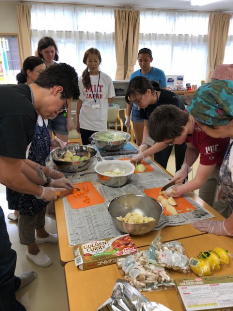 MIT students in cooking class
